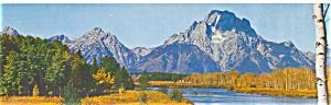 Jackson Hole WY Mt Moran Postcard lp0001 (Image1)