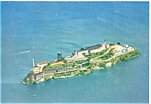 San Francisco, CA, Aerial View of Alcatraz Postcard (Image1)