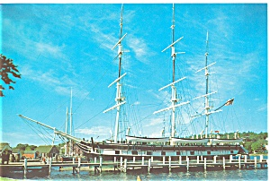 Mystic Seaport CT The Charles W. Morgan Postcard lp0012 (Image1)