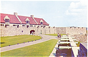 Fort Ticonderoga NY South Barracks Postcard lp0018 (Image1)