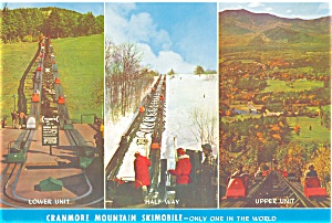 Cranmore Mountain Skimobile Three Views Postcard Lp0020