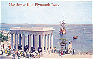 Mayflower II at Plymouth Rock Postcard lp0029 (Image1)