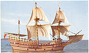 Mayflower II Under Sail Postcard lp0030 (Image1)