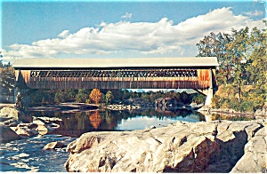 Woodstock, NH, Old Lattice Bridge Postcard (Image1)