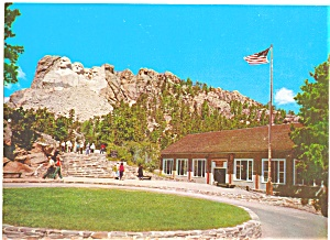 Mt Rushmore Black Hills of South Dakota Postcard lp0054 (Image1)