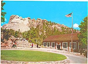 Mt Rushmore Black Hills of South Dakota Postcard lp0054 (Image1)