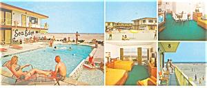 Sea Edge Resort Motel N  Wildwood, NJ Postcard lp0059 (Image1)