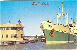 Freighter Gladys Bowater in Snell Lock Postcard lp0108 (Image1)