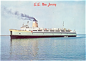 Cape May Ferry  S S New Jersey Postcard lp0110 (Image1)
