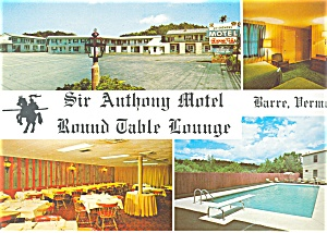 Barre Vt Sir Anthony Motel Postcard Lp0117