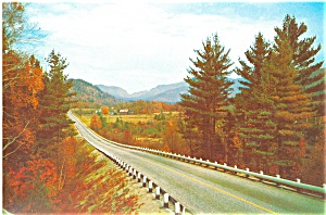 Autumn Highway Scene In New England Postcard Lp0136