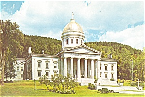 Montpelier, Vermont State Capitol Postcard (Image1)