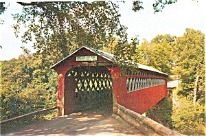 East Arlington, VT, Old Chiselville Bridge Postcard (Image1)