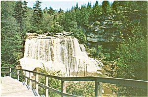 Blackwater Fall Davis Wv Postcard Lp0149