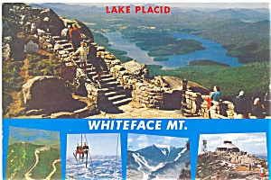 Whiteface Mountain And Lake Placid Ny Postcard Lp0153
