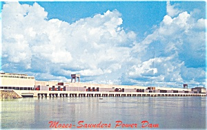 Moses Saunders Power Dam, NY Postcard (Image1)