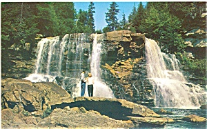 Blackwater Falls Davis Wv Postcard Lp0163