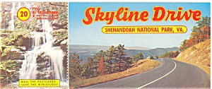 Skyline Drive,va Souvenir Folder Postcards 20 Views Lp0180