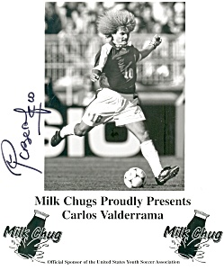 Carlos Valderrama Milk Chugs Photo/ad