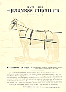Horse Harness Circular Advertisement Lp0220 1892