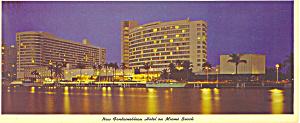 Fonntainbleau Hotel Miami Beach  FL Postcard lp0229 (Image1)