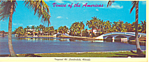 Homes, Bridges at Ft Lauderdale,FL Postcard (Image1)