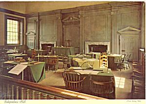Independence Hall Interior Philadelphia PA Postcard lp0232 (Image1)