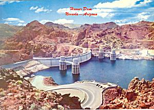Hoover Boulder  Dam from Arizona Side Postcard lp0235 (Image1)