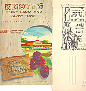 Knotts Berry Farm Menu and Shop Brochure 1950s (Image1)