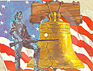 Liberty Bell March Postcard Stero Record Rare