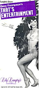 Lily Langtrys Theatre Restaurant Postcard Brochures lp0246 (Image1)