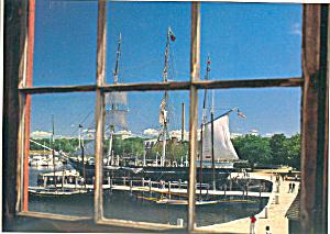 Charles W Morgan at Mystic Seaport CT Postcard lp0260 (Image1)