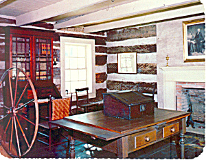 Log Room,AR Territorial Restoration Postcard (Image1)