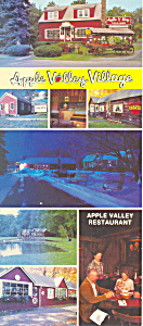 Apple Valley Village, Milford, PA Postcard (Image1)