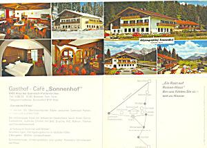 Gasthof Cafe Sonnenhof Garmisch Partenkirchen Brochure lp0295 (Image1)