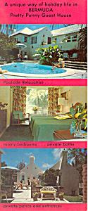 Pretty Penny Guest House Bermuda Postcard lp0303 (Image1)