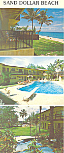 Sand Dollar Beach Motel Florida Postcard lp0305 (Image1)