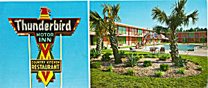 Thunderbird Motor Inn And Country Restaurant Postcard Lp0307