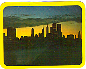 Sunset Over New York City Skyline lp0316 (Image1)