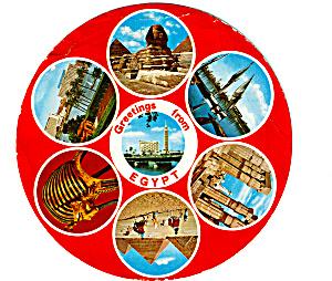 Views of Egypt Unusual Circular Postcard lp0319 (Image1)