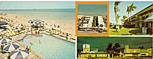 Blue Grass Ocean Front Motel FL Postcard lp0347 (Image1)