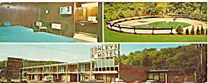 Conley s Motel and  Restaurant Irwin PA Postcard lp0394 (Image1)