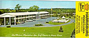 Best Western Plantation Inn Harrisburg PA Postcard lp0402 (Image1)