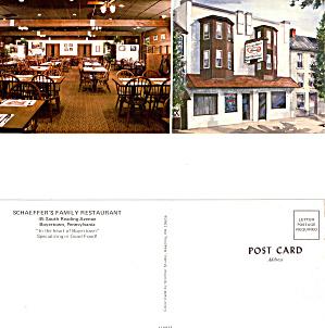 Schaffer s Family Restaurant Boyertown Pennsylvania lp0414 (Image1)