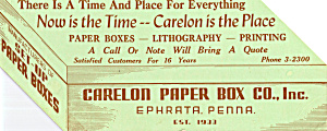 Carelon Paper Box Co.inc Blotter