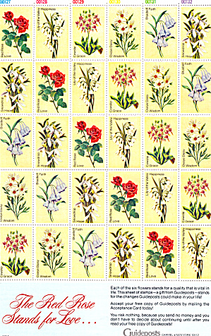 Guideposts Flower Stamps Lp0452