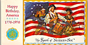 Happy Birthday America 1776-1976 Souviner Postcards lp0495 (Image1)