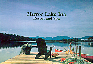 Mirror Lake Inn Resort and Spa Dock and Canoe Large Postcard lp0503 (Image1)