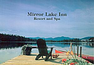Mirror Lake Inn Resort and Spa Dock and Canoe Large Postcard lp0503 (Image1)