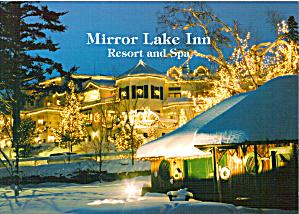 Mirror Lake Inn Resort and Spa Christmas Lights Large Postcard lp0504 (Image1)